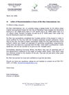Click here to view the letter from Hank Breitenkam