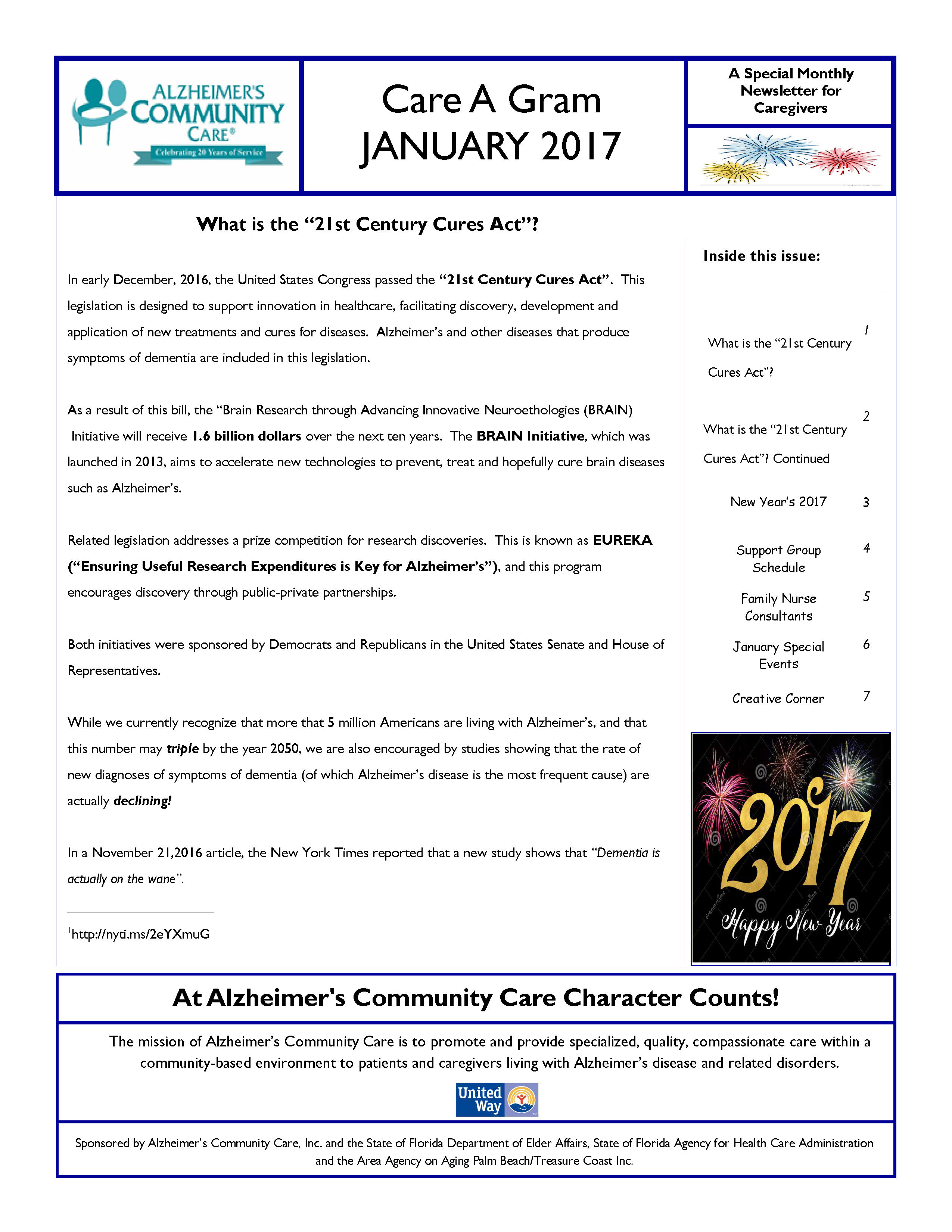 January 2017 Care A Gram