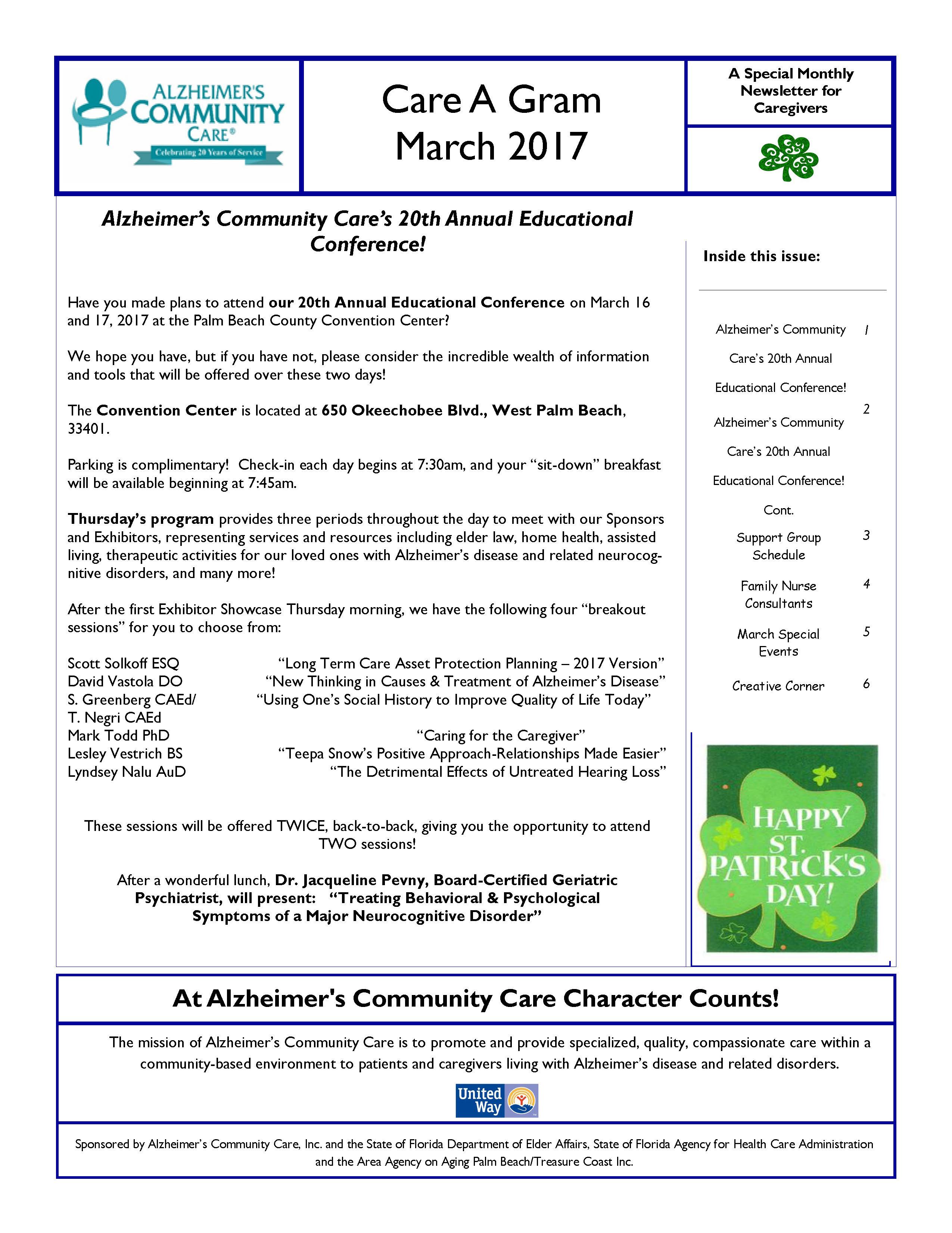March 2017 Care A Gram