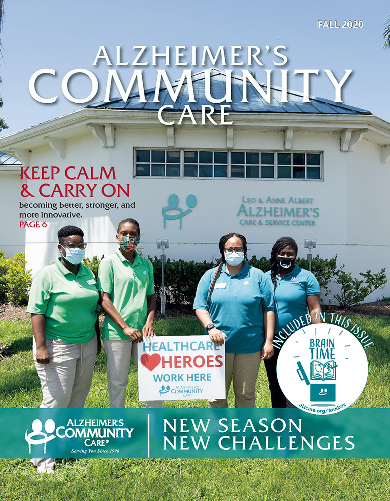Alzheimer's Community Care Magazine - Summer 2020 (Cover)