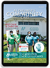 The Alzheimer's Community Care Magazine Digital Edition on an Apple iPad.