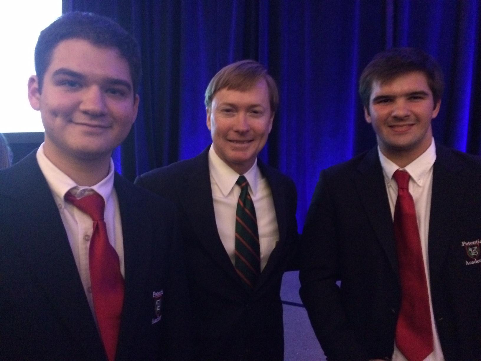 Potentia Students Meet Gubernatorial Candidate